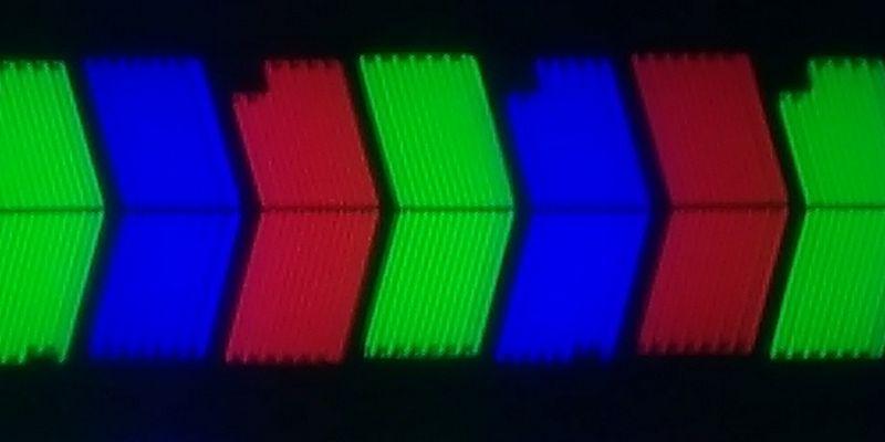 LG 49NANO803NA panel subpixels TV review