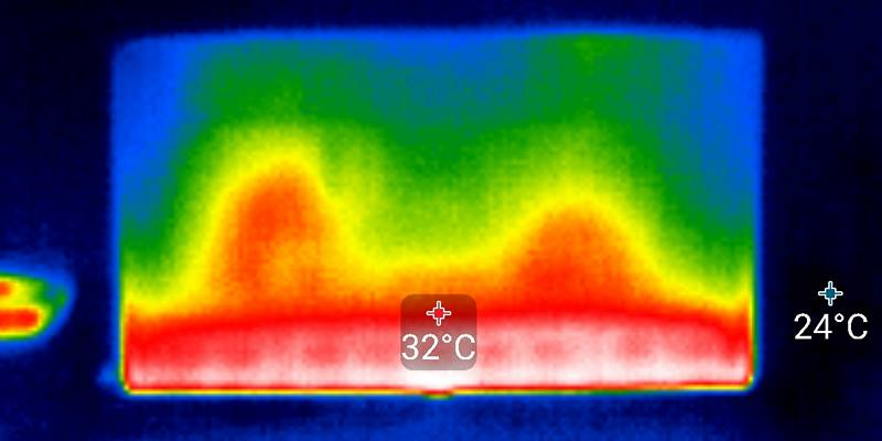 Samsung 50TU8502 edge LED backlight thermogram