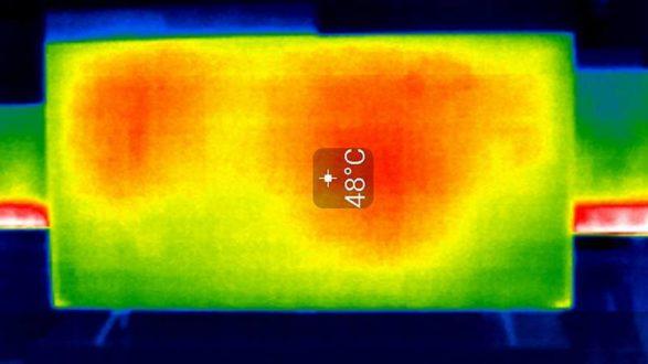 Samsung 55Q70R termogram