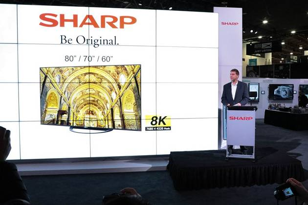 Sharp 8k tv ces 2019