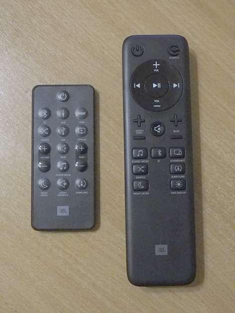 JBL Bar 2.1 Studio remotes