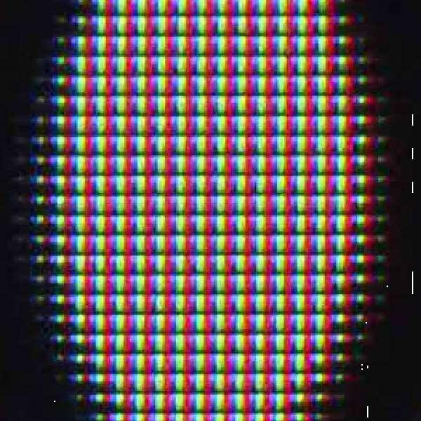Samsung 55NU8002 subpixels