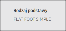 samsung flat foot simple
