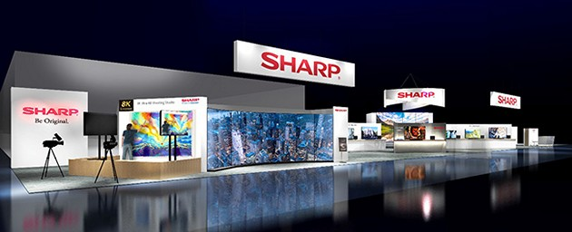 sharp booth ces 2019