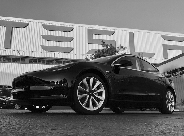 Tesla 3 production model first photo